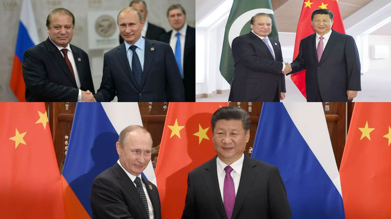 Image result for pakistan russia and china on afghan