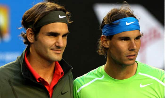 Image result for rafael nadal and roger federer 2017