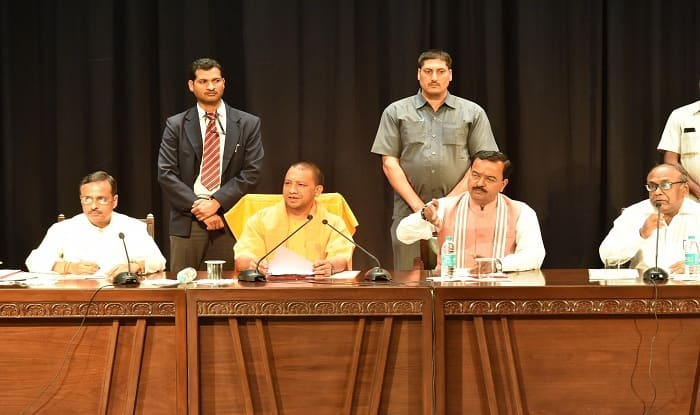 Image result for yogi adityanath meeting ministers