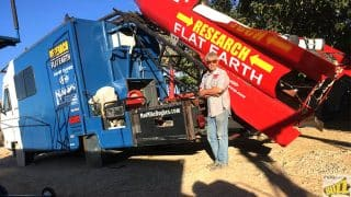 Man Creates Homemade Rocket to Prove the Earth Is Flat, Ready to Launch Himself
