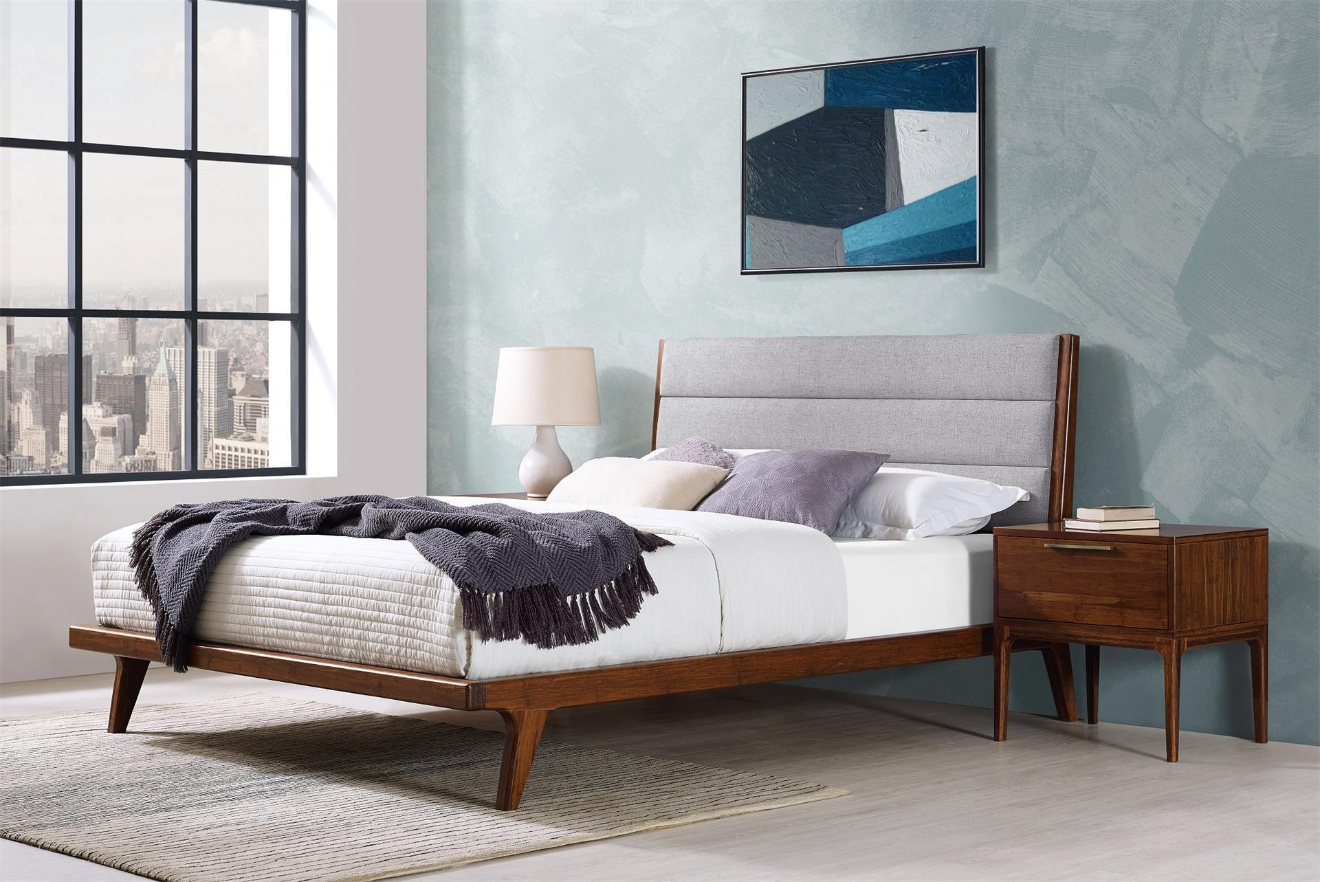 greenington mercury 3 piece upholstered bamboo bedroom set