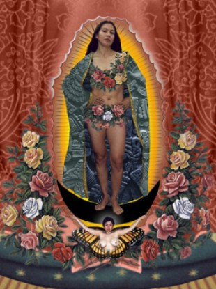 Alma Lopez's Our Lady print