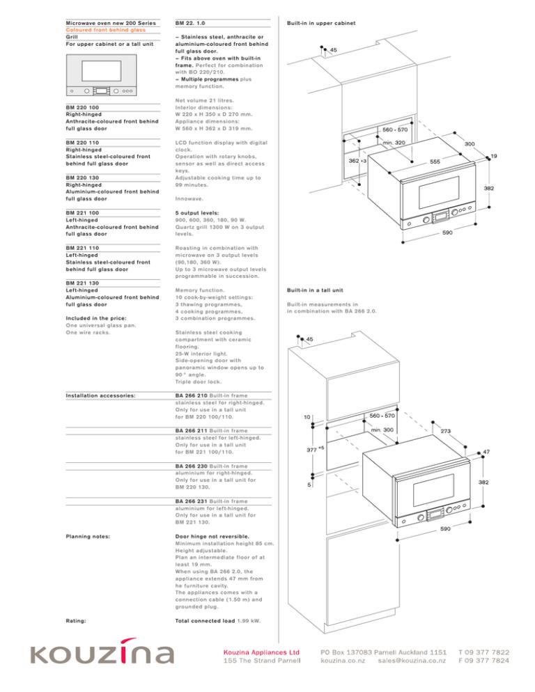 gaggenau bm221 microwave specs manualzz