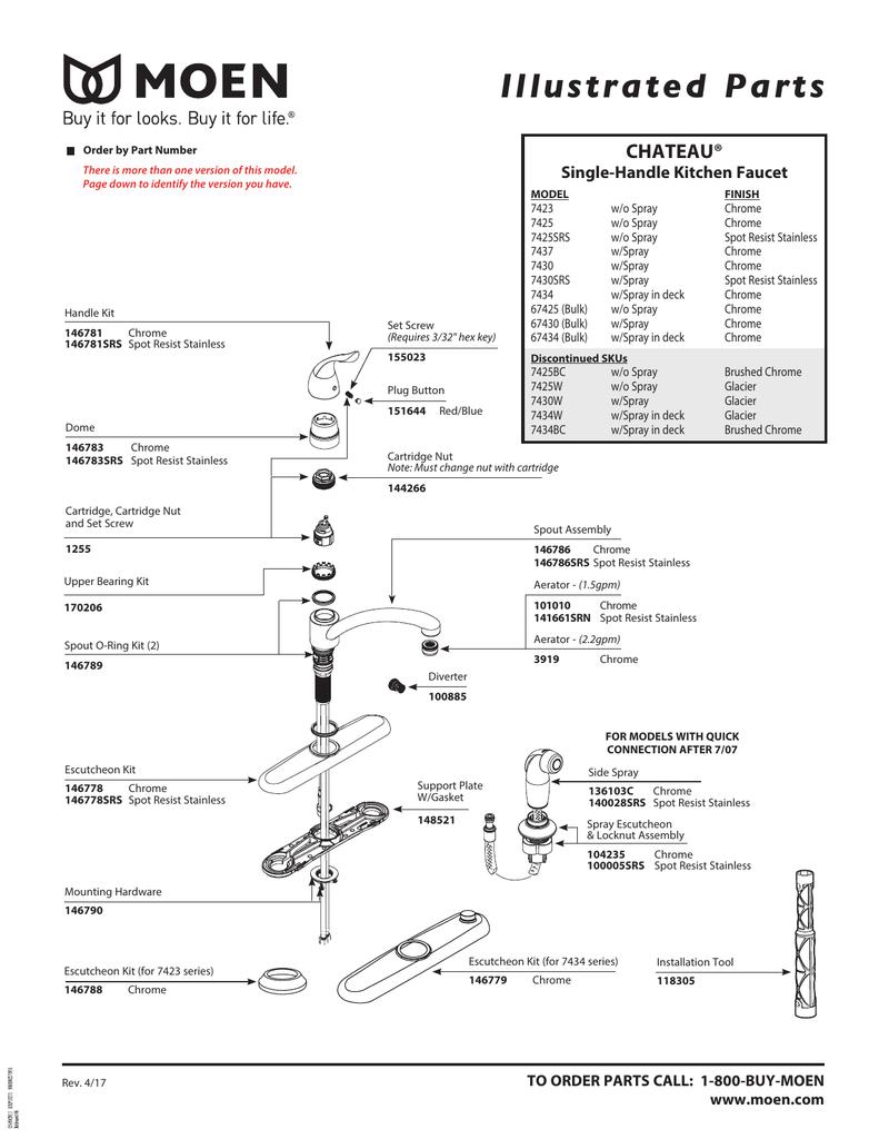moen 7425 user manual manualzz