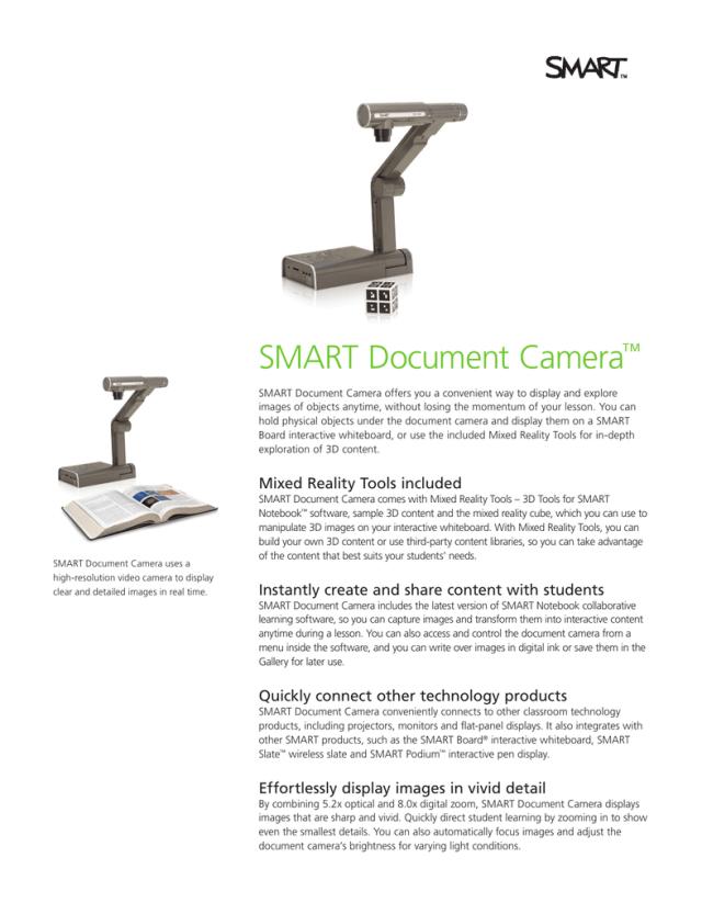 SMART Document Camera - Smart Technologies  Manualzz
