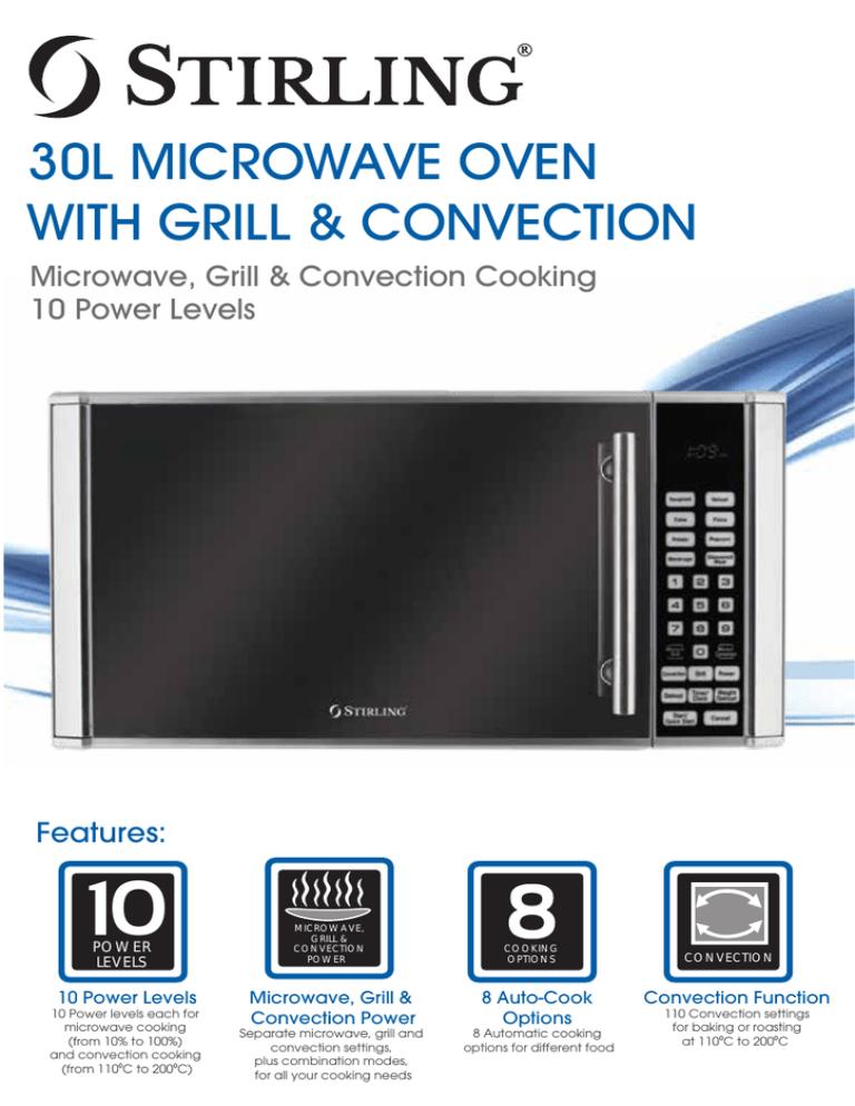 d90n30aslr t4 h stirling 30l microwave