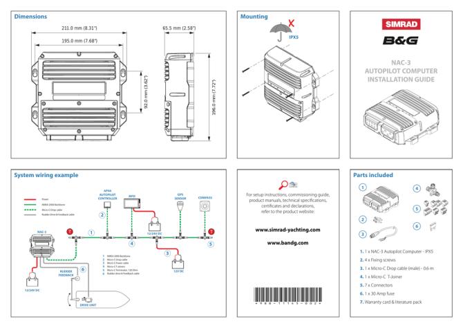 simrad nac3 installation guide  manualzz