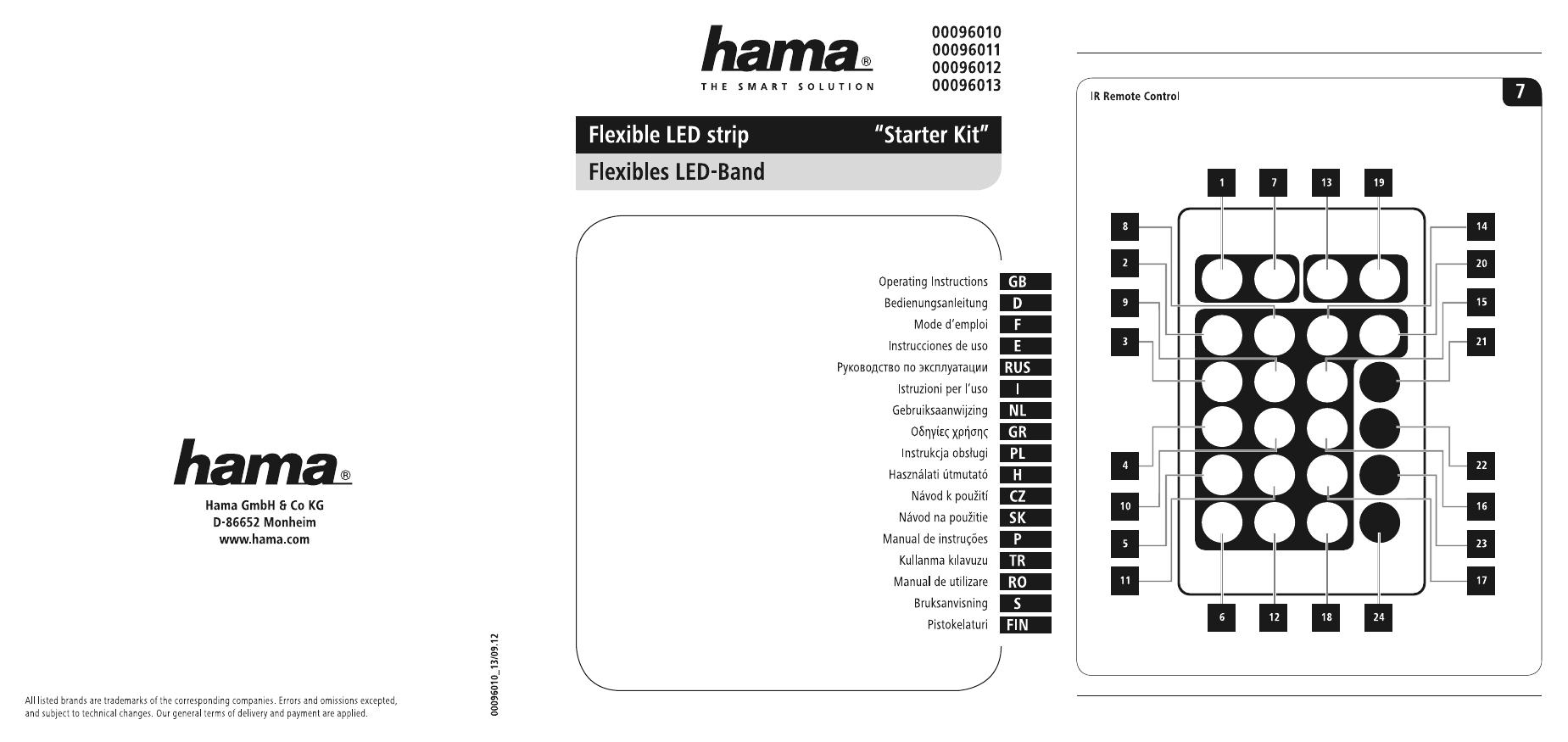 Hama Flexible Led Strip Rgb Extension Set 1 M