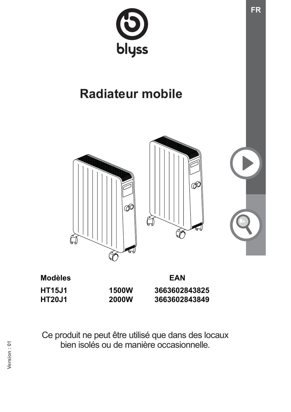 Blyss Ht15j1 User Manual Manualzz