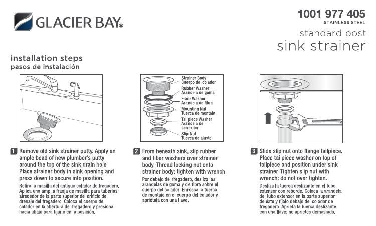 glacier bay 7043 103ss installation