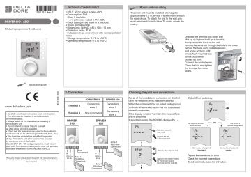 Delta Dore Driver 620 Installation Instructions Manualzz