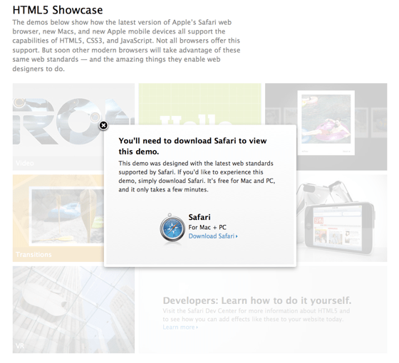No HTML5 for you without Safari.png