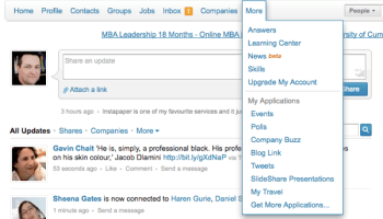 LinkedIn Today screenshot