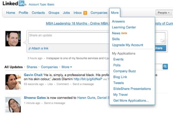 LinkedIn Today screenshot