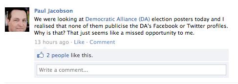 FB post to DA 1
