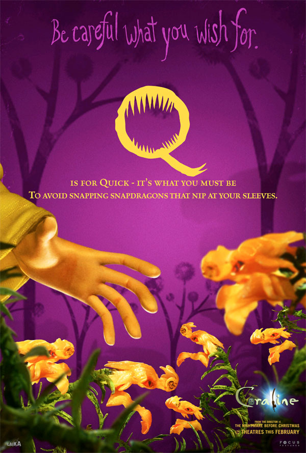 All The Coraline Alphabet Movie Posters GeekTyrant