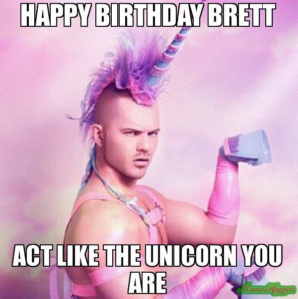 Happy Birthday Brett Meme Memeshappen