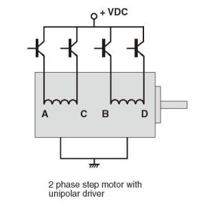 2-phase-step-motor-with-unipolar-driver