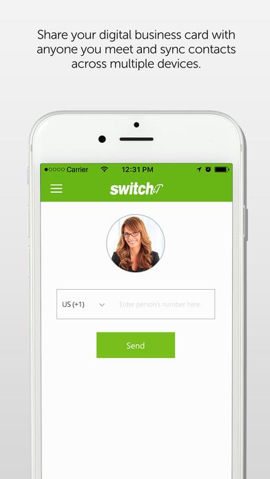 Switchit - Multimedia Digital Business Cards Screenshot