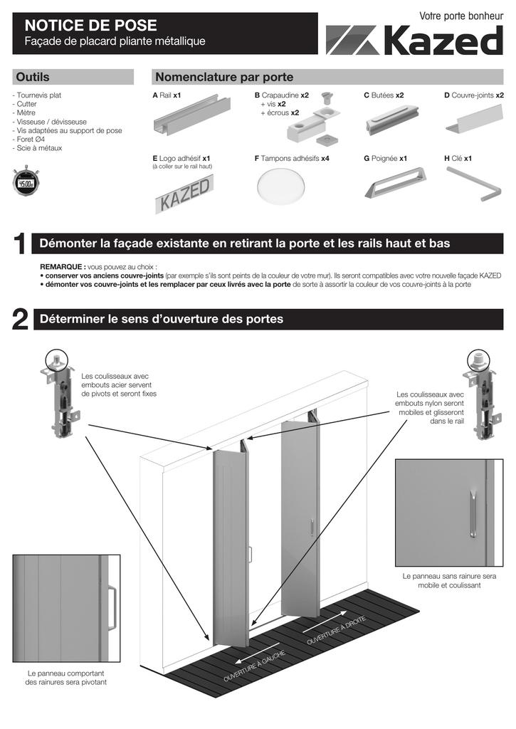 Kazed Notice De Pose Pliante Metal Indd