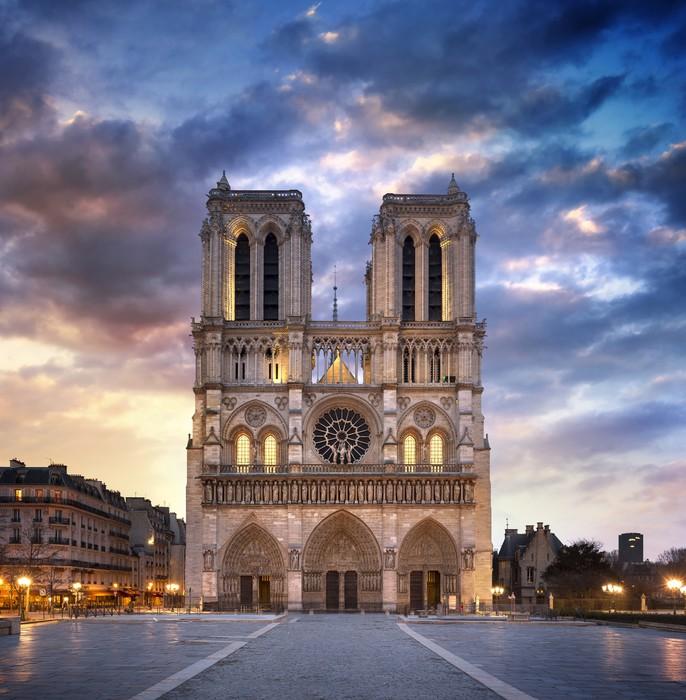 Tableau Sur Toile Cathdrale Notre Dame De Paris Pixers