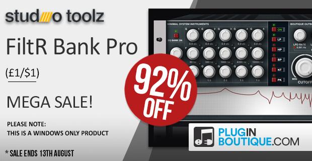 620x320 studiotoolz filterbankpro 92 megasale pluginboutique