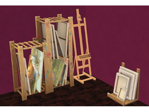 the sims 4 painting canvas storage rack
