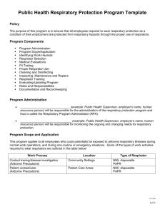Clinic Respiratory Protection Program Template