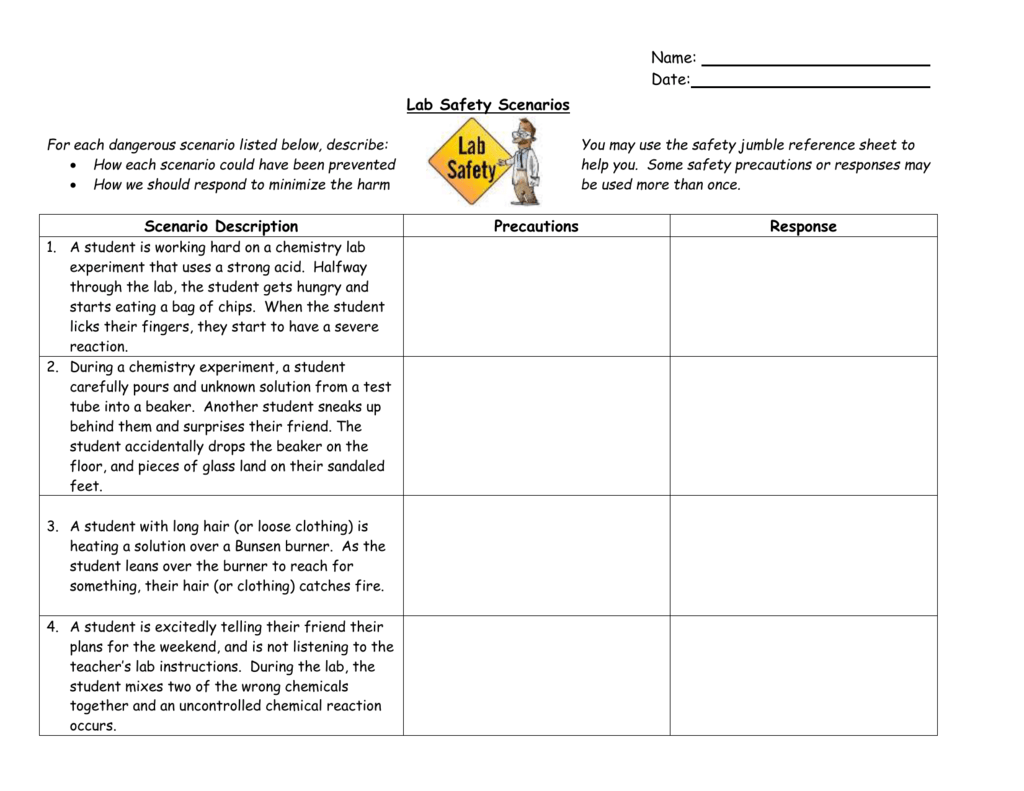 Worksheet Lab Safety Worksheet Grass Fedjp Worksheet