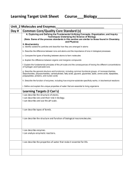 Biomolecule Review Worksheet