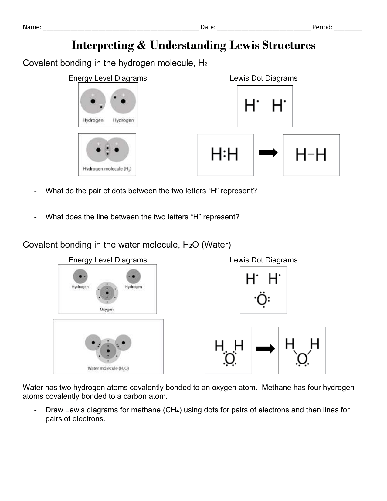 Hw Lewis Structures Worksheet