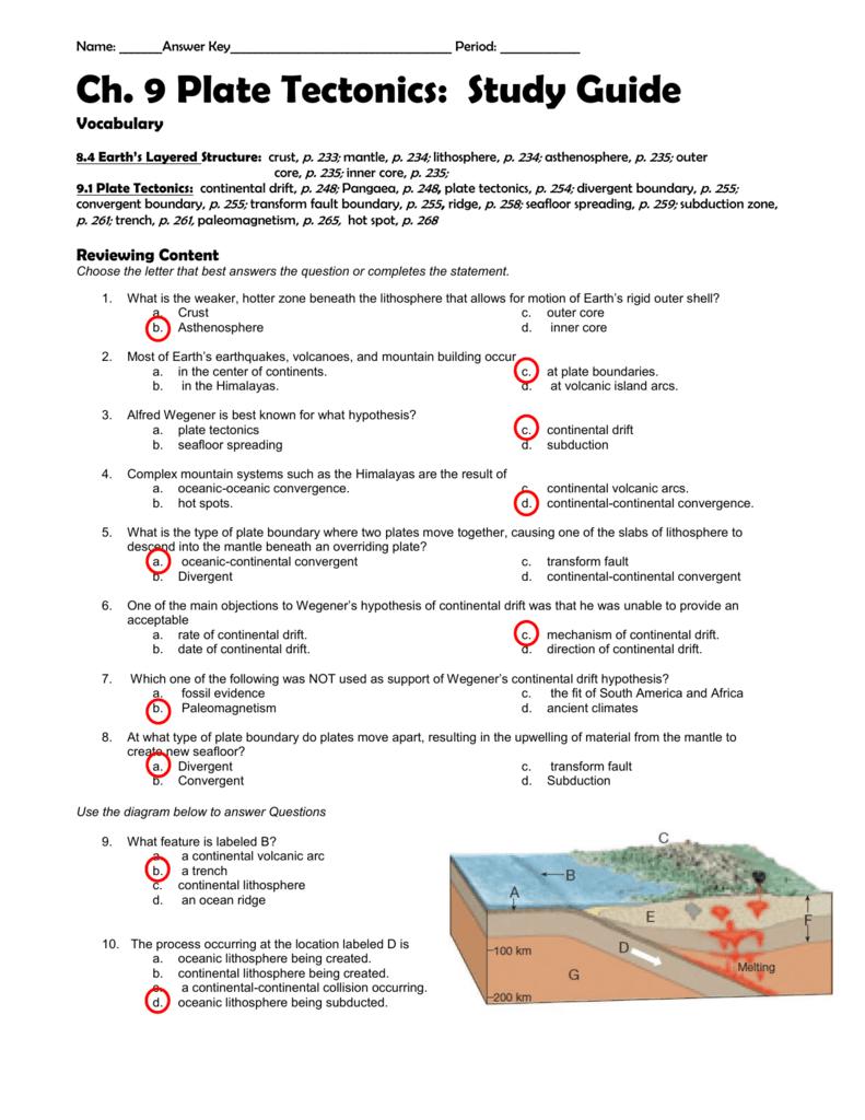 Gizmo Plate Tectonics Lab Answer Key : 30 Plate Tectonics ...