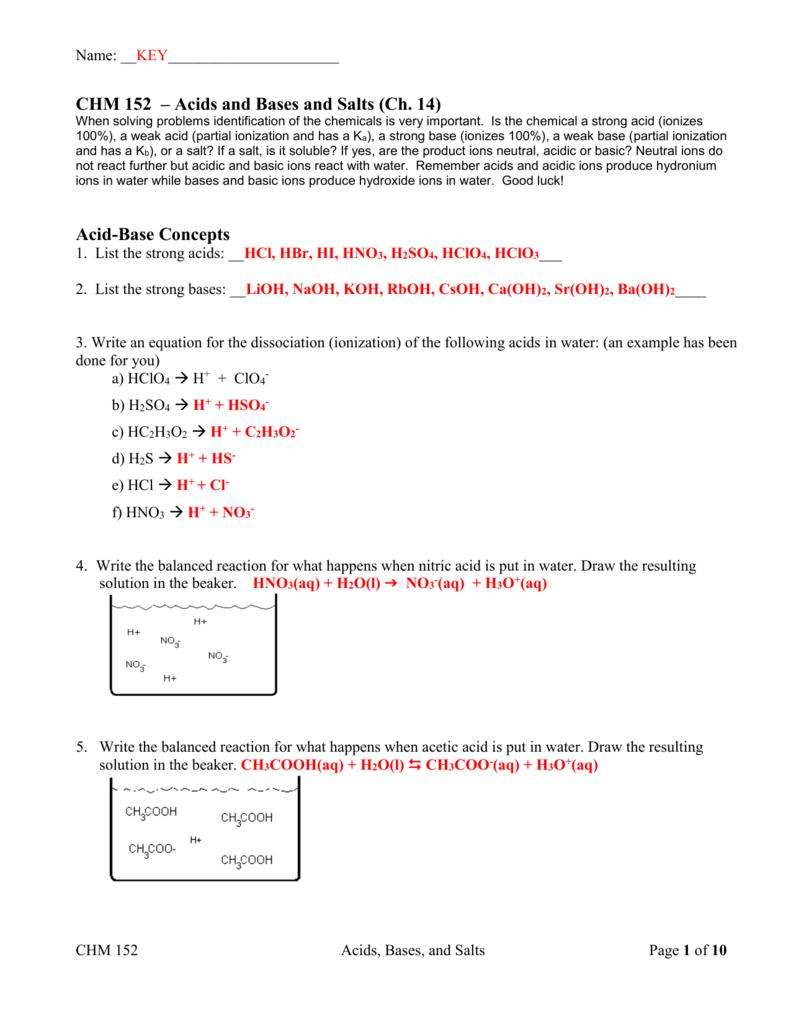 1 Bases And 25 Acids Worksheet