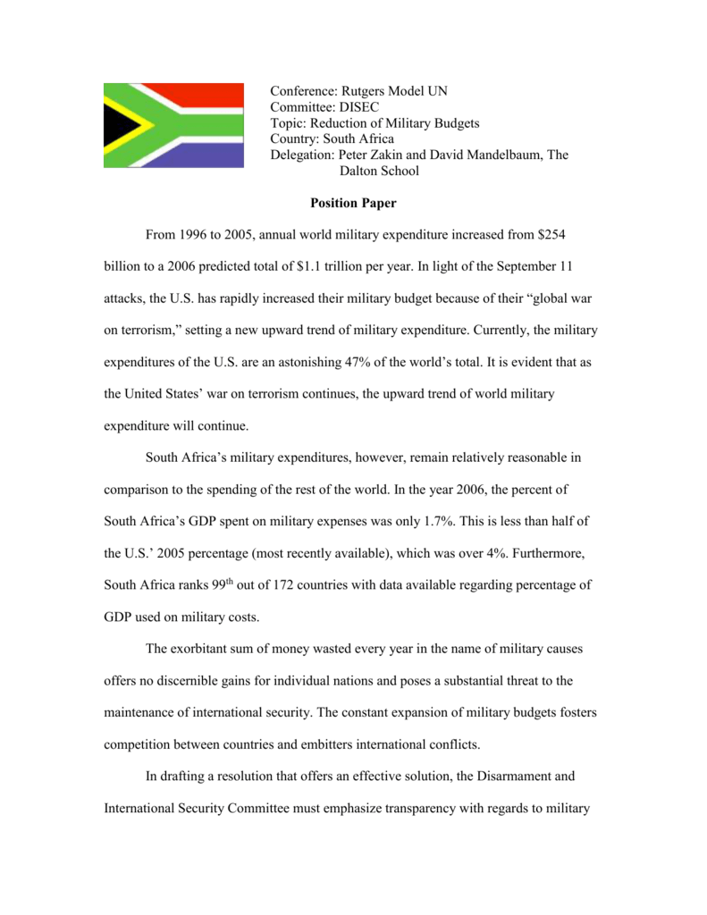 Example Position Paper Mun : 24