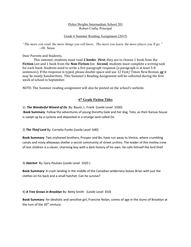 Dyker Heights Intermediate School 201 Robert Ciulla Principal