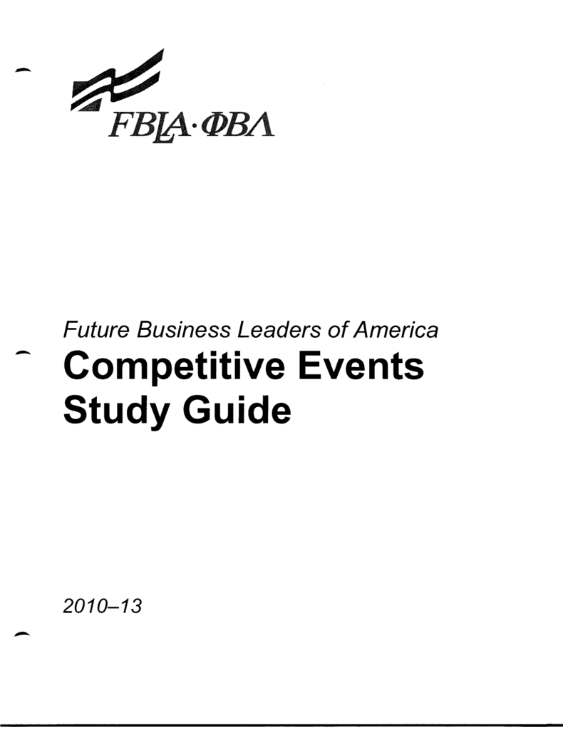 Download Future Business Leaders of America Competitive Events Study Guide