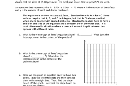 Free Forms 2018 Standard Form Of Linear Equations Free Forms