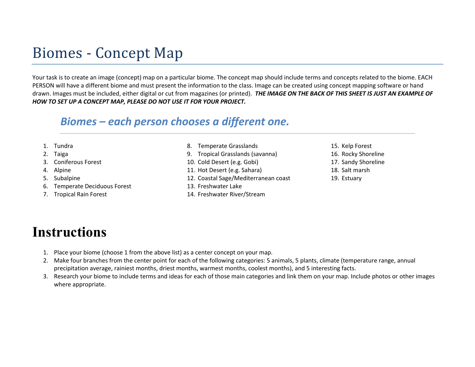 Freshwater Biome Worksheet