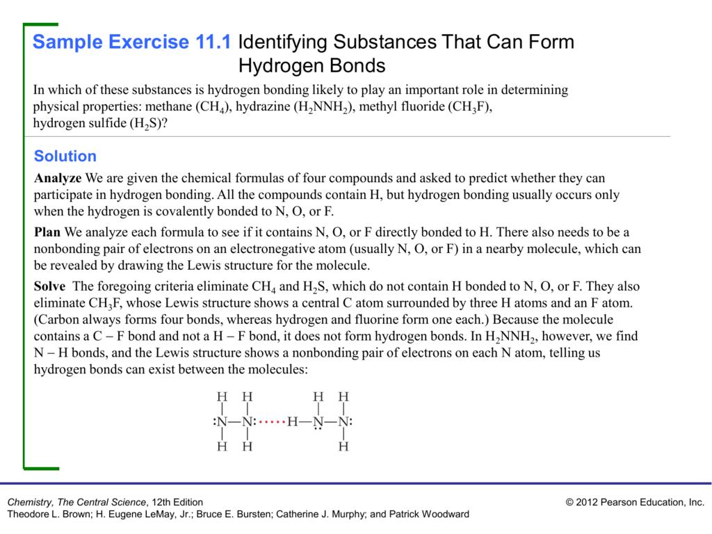 Sample Exercise 11 1 Identifying Substances