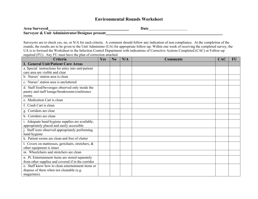 Environmental Rounds Worksheet V1 0