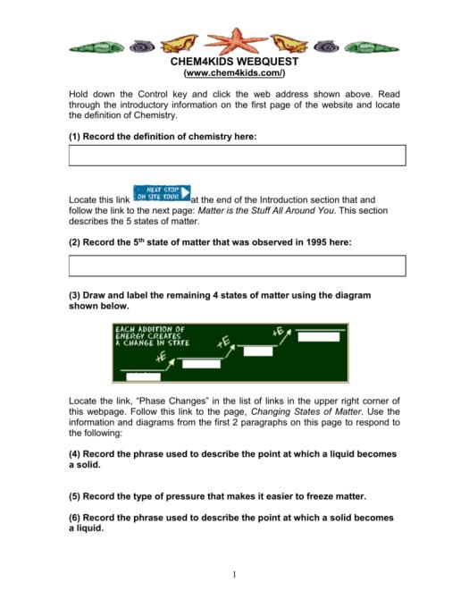 Periodic Table Webquest Middle School Periodic Diagrams Science