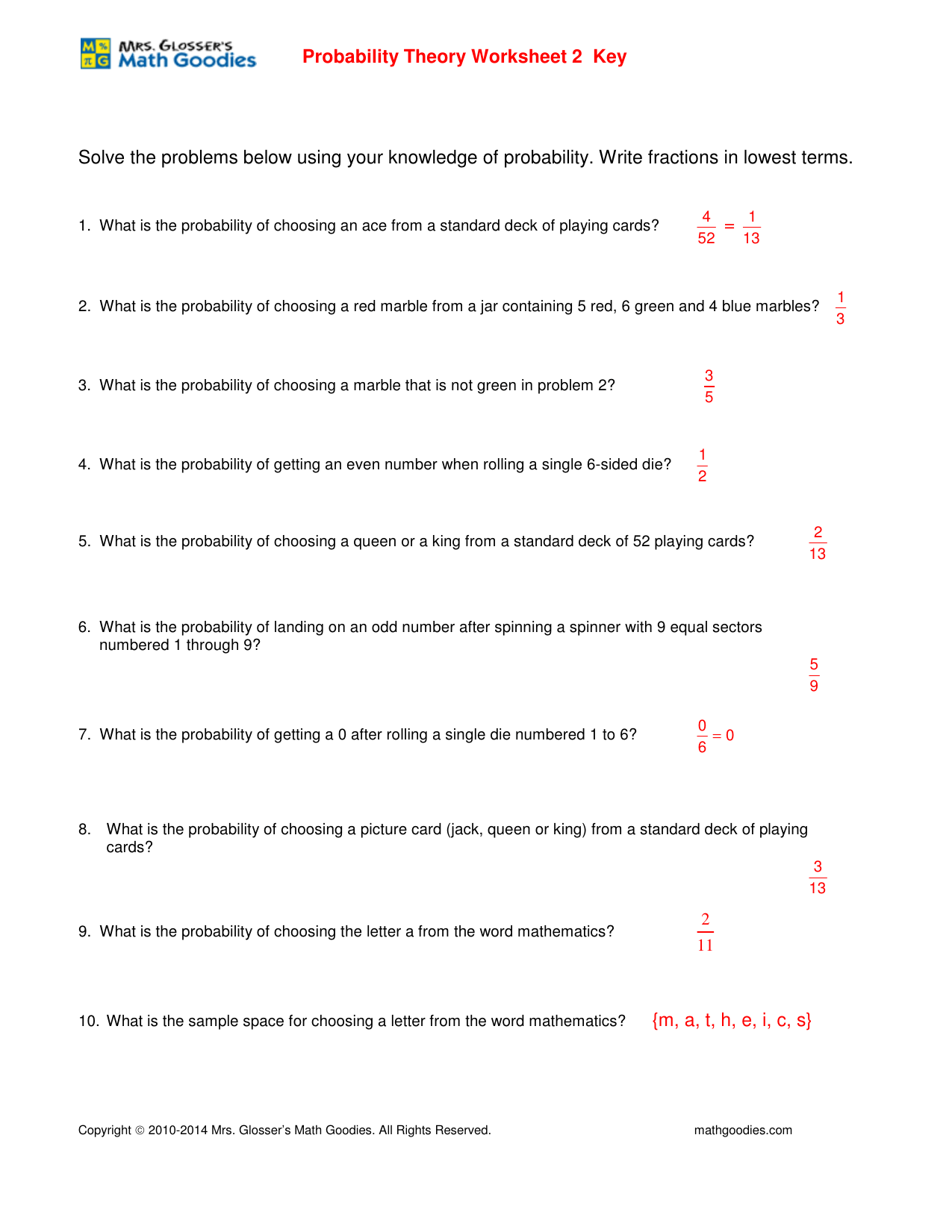Solve The Problems Below Using Your Knowledge Of