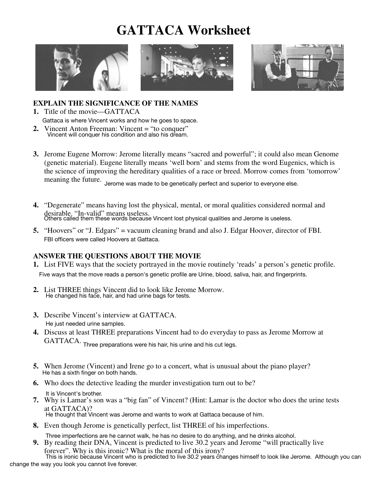 31 Fresh The Movie Worksheet Answers