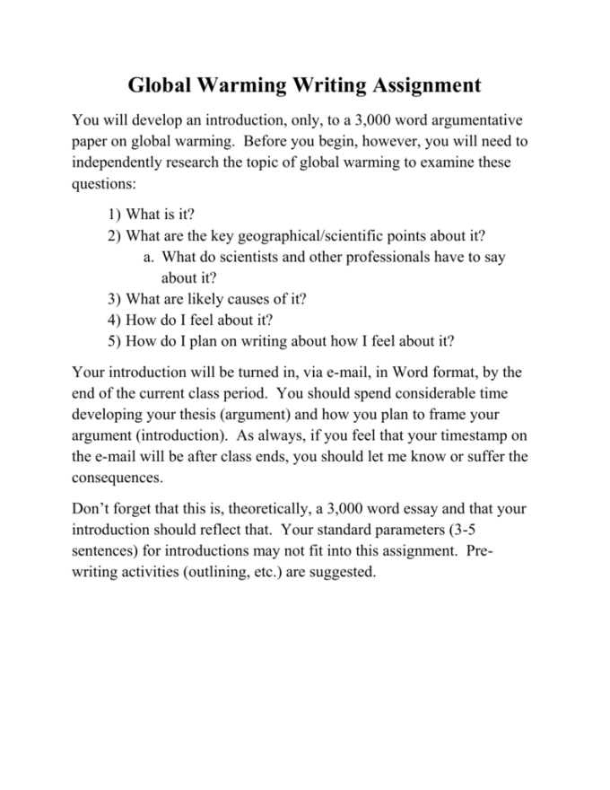 writing an assignment introduction