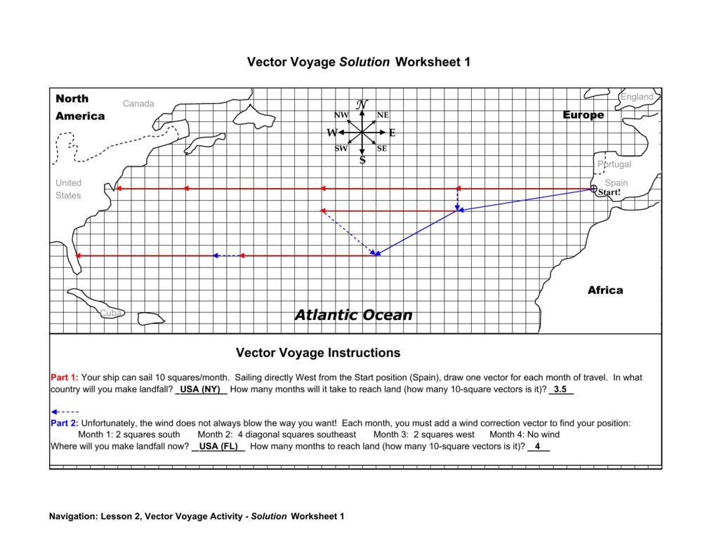 Vector Voyage Solution Worksheet 1