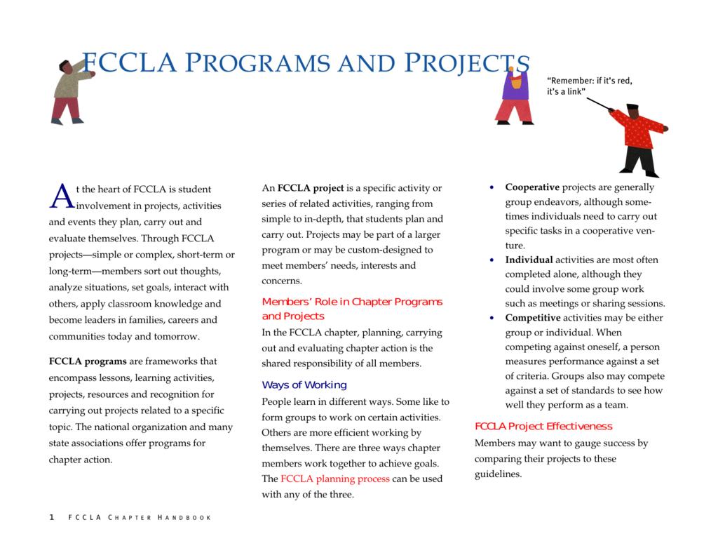 Fccla Planning Process