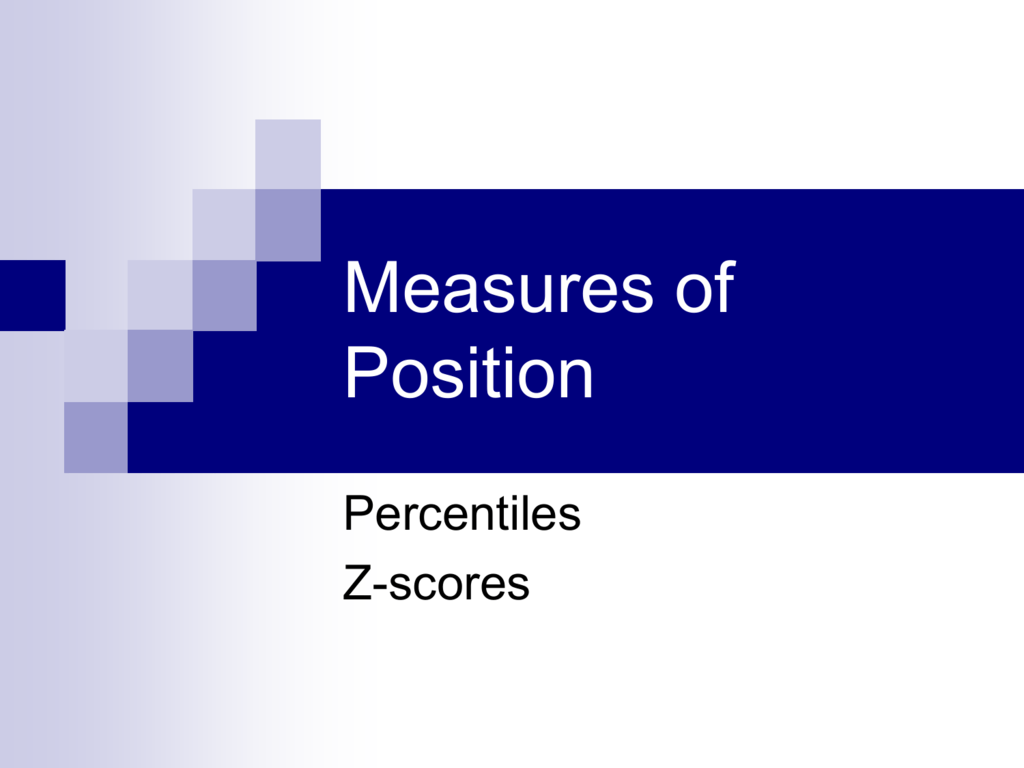 Z Scores Amp Percentiles