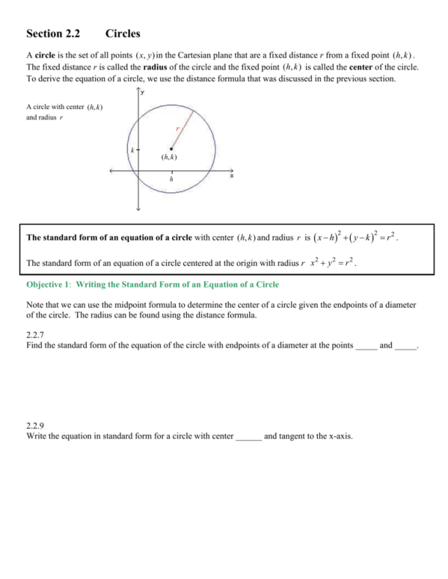Chapter 28 The Cartesian Coordinate System, Lines and Circles