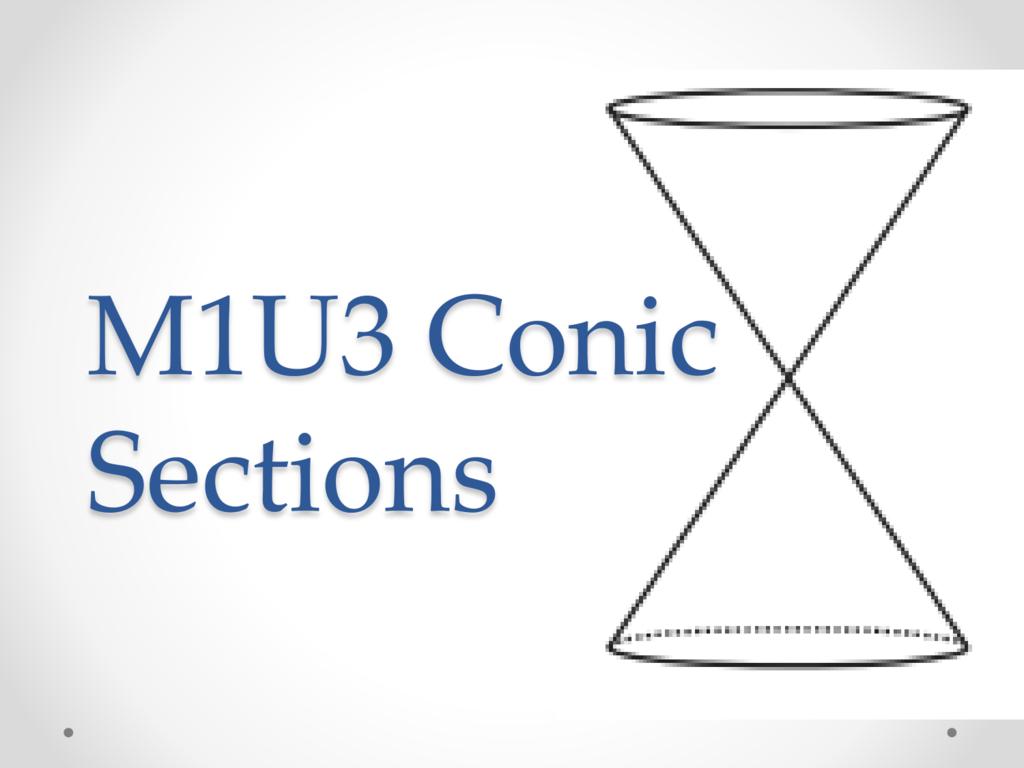 M1u3 Conic Sections