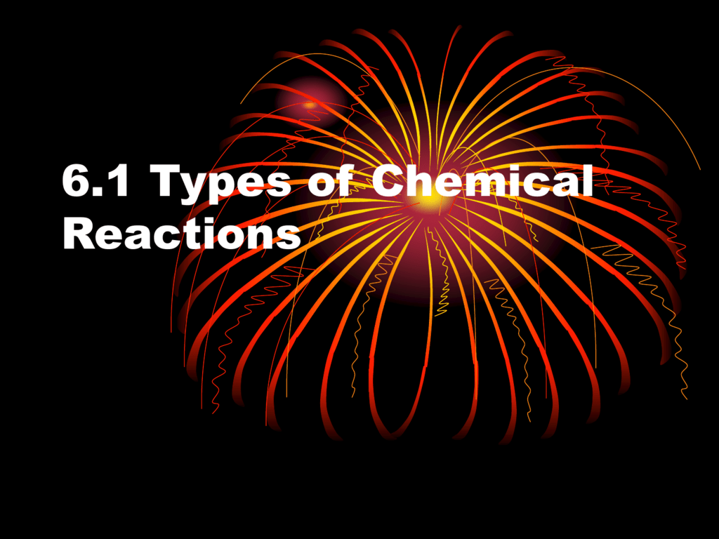 6 1 Types Of Chemical Reactions